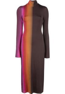Ellery Tie Dye Effect Dress - Preto