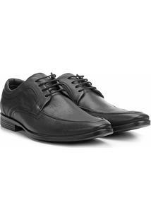 Sapato Social Couro Ferracini Dimitri Perfuros - Masculino-Preto