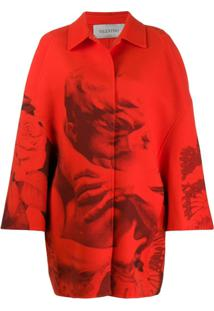 Valentino Trench Coat X Undercover Lovers Com Estampa - Vermelho