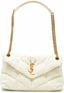 Saint Laurent Bolsa Mini Loulou - Branco