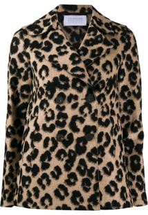 Harris Wharf London Jaqueta Bouclê Animal Print - Neutro