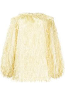 Rotate Textured Off-Shoulder Shift Dress - Amarelo
