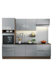 Cozinha Completa Madesa Lux Com Armário E Balcão 6 Portas 5 Gavetas Rustic/Cinza Cor:Rustic/Cinza