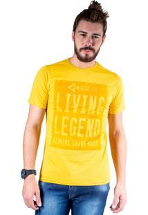 Camiseta Mister Fish Estampado Living Legend Mostarda