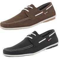 9e42f0e454676 Mocassim Casual Cr Shoes Drive Preto Café