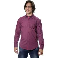 d589c69e87 Camisa Zimpool Social Slim Fit Manga Longa Vinho