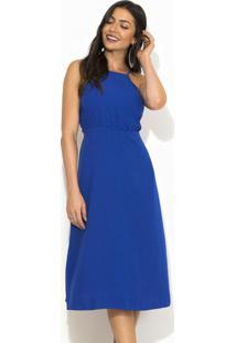 Vestido Midi Alça Azul