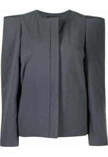 Isabel Marant Padded-Shoulder Jacket - Cinza