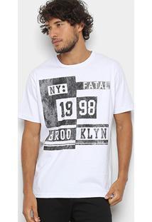Camiseta Fatal 1998 Brooklyn Masculina - Masculino-Branco