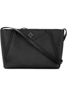 Bolsa Capodarte Mini Bag Safiano Feminina - Feminino-Preto