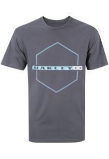 Camiseta Oakley Crossing Hex Tee - Masculina - Cinza Escuro