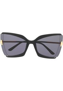 Tom Ford Eyewear Gia Butterfly-Frame Sunglasses - Preto