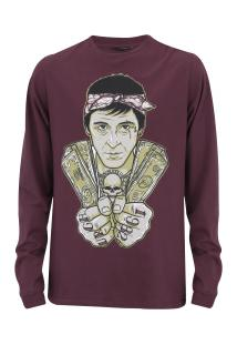 Camiseta Manga Longa Urgh Scarface - Masculina - Vinho