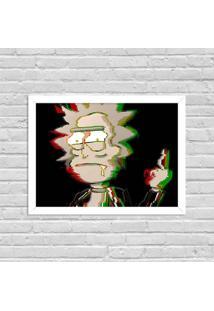 Quadro Decorativo Série De Tv Rick Punk Rick And Morty Branco - Grande