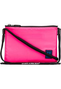 Off-White Bolsa Tiracolo Com Patch De Logo - Rosa