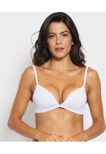 Soutien Push Up Liso- Branco- Liebeliebe