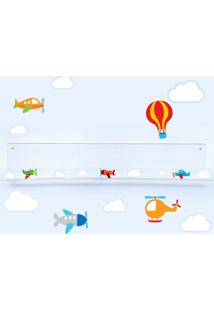 Adesivo De Parede E Livreiro Quartinhos Aviões E Nuvens Incolor