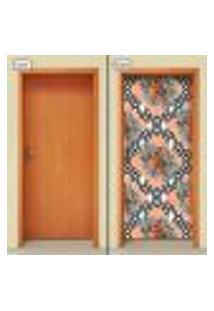 Adesivo Decorativo De Porta - Flores - 1386Cnpt