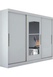 Guarda Roupa Montebello 3 Portas Com Espelho Branco