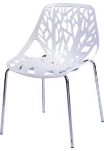 Cadeira De Jantar Folha Branco Or Design - Branco - Dafiti