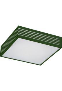 Plafon Grande Com Rasgo Maior 6147 4 Lâmpadas Verde Pantoja&Carmona