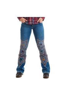 Calça West Dust Megan Star Bootcut Jeans Escuro