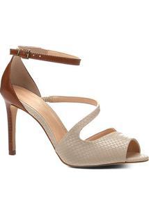 5e9341d789 Shoestock. Sandália Shoestock Salto Fino Snake Feminina ...