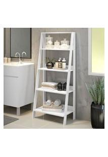 Estante Organizadora Multiuso Para Banheiro Com 4 Prateleiras Madesa Branco Branco