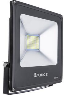 Refletor Led Liege Ip65 50W Bivolt Preto