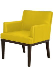 Poltrona Decorativa Lyam Decor Beatriz Corino Amarelo - Amarelo - Dafiti