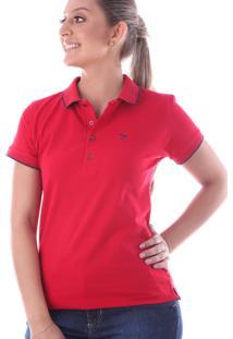 Camisa Pólo Com Manga Slim feminina  55bfaf1206cca