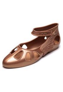 Sandália Melissa Vivienne Westwood Anglomania + Melissa Normandie Sandal Dourada