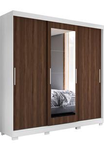 Guarda-Roupa Casal Com 3 Portas Auris-Móveis Albatroz - Branco / Cedro