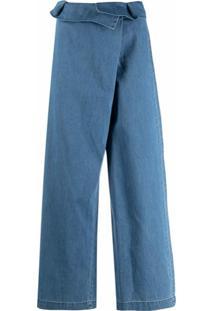 Federica Tosi Calça Cropped - Azul