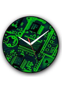 Relógio De Parede Colours Creative Photo Decor Decorativo, Criativo E Diferente - Placa Chip De Computador