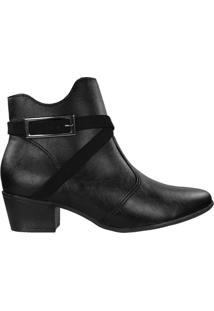 Bota Ramarim Ankle Boot Feminina Preto - 34