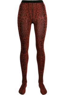 Wolford Meia-Calça Blotched Snake - Vermelho