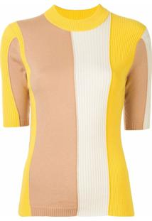 Chinti And Parker Blusa Canelada Biscotti Chromatic - Estampado
