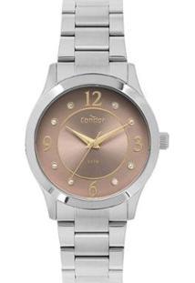 Relógio Condor Bracelete Co Feminino - Feminino-Prata