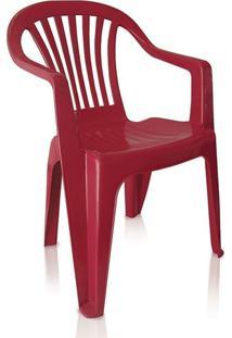 Cadeira Poltrona De Plástico Vila Boa Vista Vinho Antares
