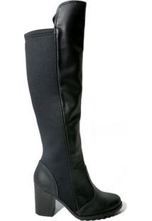 Bota Bebecê 5014-276 Over Knee Feminina Cano Longo