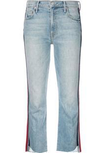 Mother Calça Jeans Flare Cropped - Azul