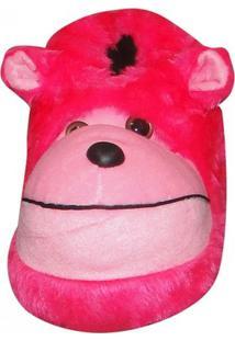 Pantufa Macaco Pé Quentinho - Feminino-Pink