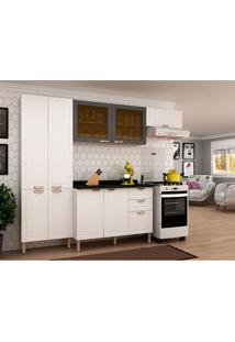 Cozinha Compacta Nevada Iv 9 Pt 3 Gv Branca E Grafite
