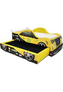 Bicama Spider Cama Carro Amarelo