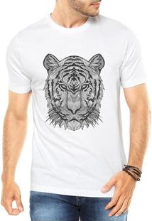 Camiseta Criativa Urbana Tigre Tatoo Style Illustration Tribal - Masculino
