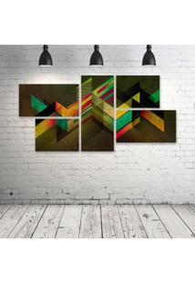 Quadro Decorativo - Retro-Shapes - Composto De 5 Quadros - Multicolorido - Dafiti