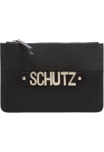 Clutch Golden Logo Black | Schutz