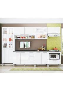 Cozinha Emanuella 0422T 13 Portas C/ Tampo – Genialflex - Branco