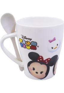 Caneca Minas De Presentes Mickey & Minnie Tsum Tsum Branca